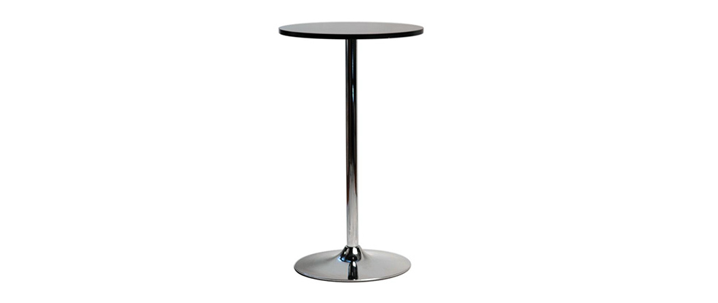 JAMES Black Round Bar Table