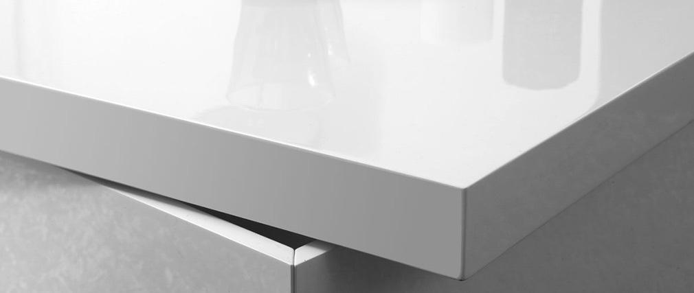 JANA Glossy White Modern Coffee Table
