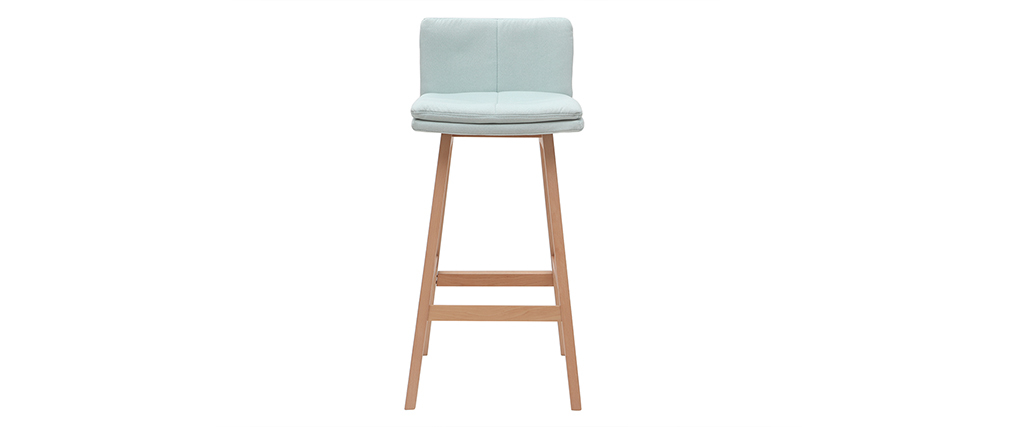 JOAN set of 2 65cm wooden and mint designer bar stools