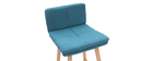 JOAN set of 2 65cm wooden and teal bar stools