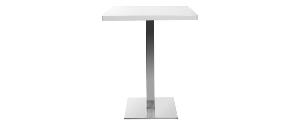 JORY White Square Modern Central Leg Dining Table