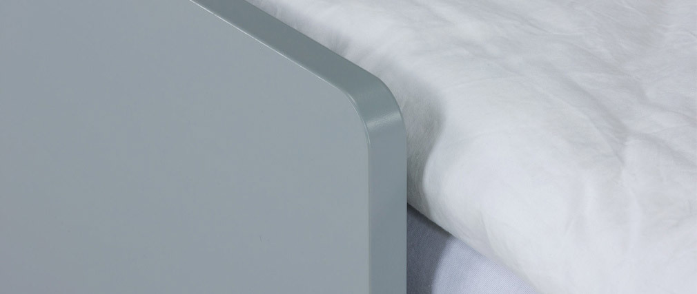 JULES children?s bed with drawers,white, grey and pink 90 x 200cm