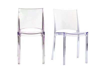 KALYA Transparent Modern Chair (set of 2)