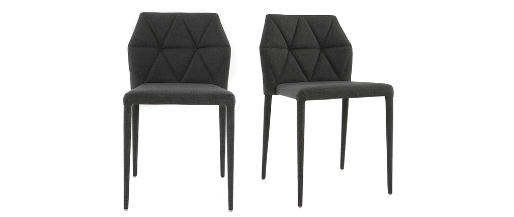 KARLA Set of 2 grey designer chairs