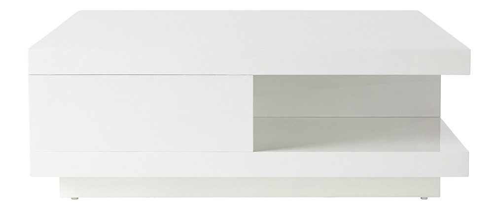 KARY White Modern 2 Drawer Coffee Table