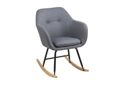 Super Kendall Designer Dark Grey Fabric Rocking Chair Squirreltailoven Fun Painted Chair Ideas Images Squirreltailovenorg