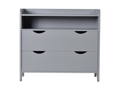 KIDDO Child Cabinet Lacquer Wood Matt Grey