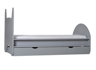 KIDDO Kids Bed with Drawers Matt Lacquered Grey 90x190cm