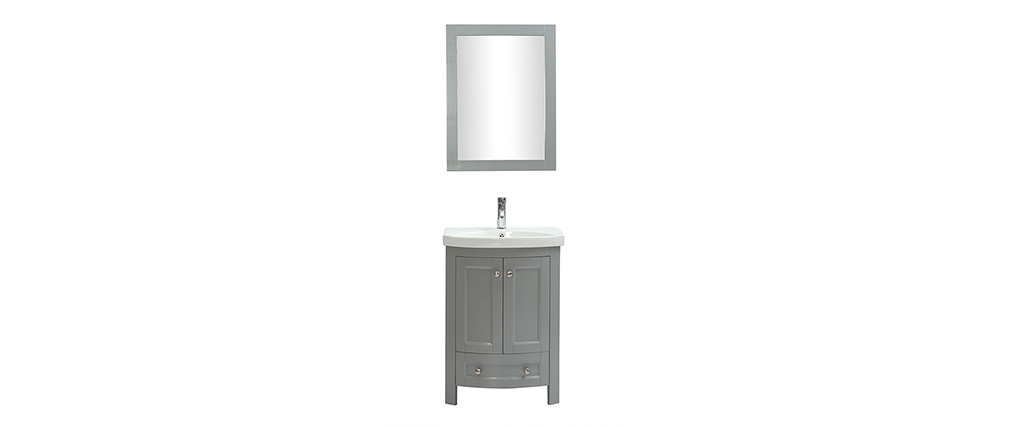 KLASI grey bathroom unit with basin and storage