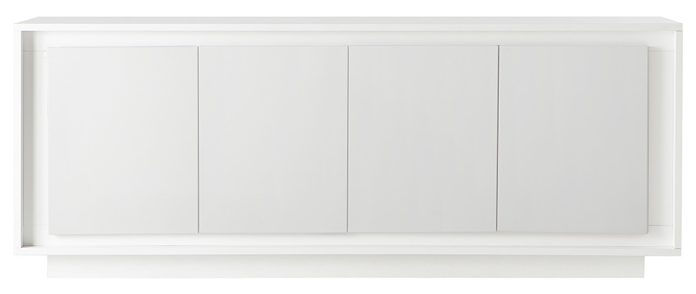 LAND designer 4-door white sideboard
