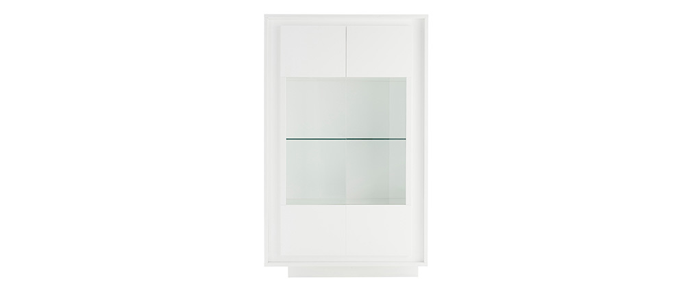 LAND designer glass-front white sideboard