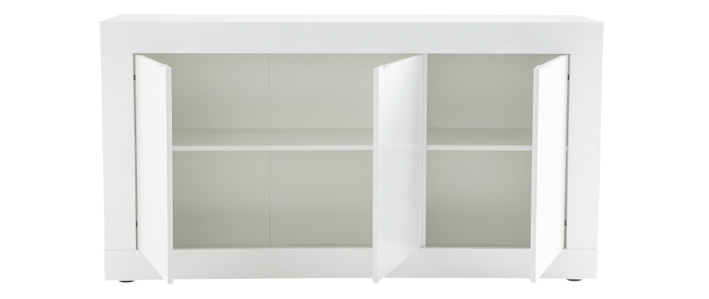 LATTE designer sideboard in white lacquer 160cm