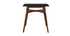 LEENA black and wood square bar table