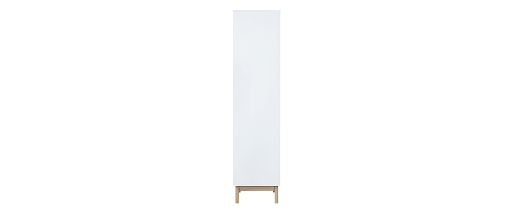 LEENA designer white bookcase with 4 shelves