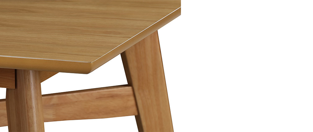 LEENA light wood oak bar table