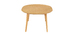 LEENA oak round designer extending table L120-150