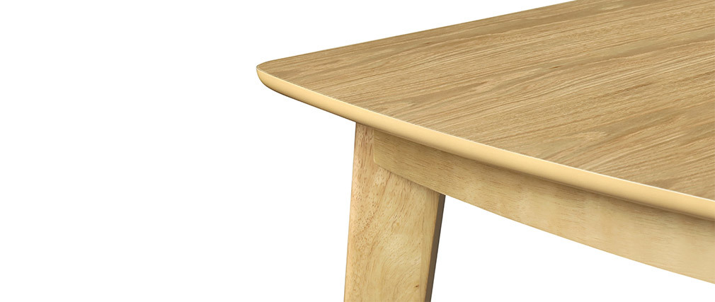 LEENA Scandinavian extendable dining table in light wood L150-200