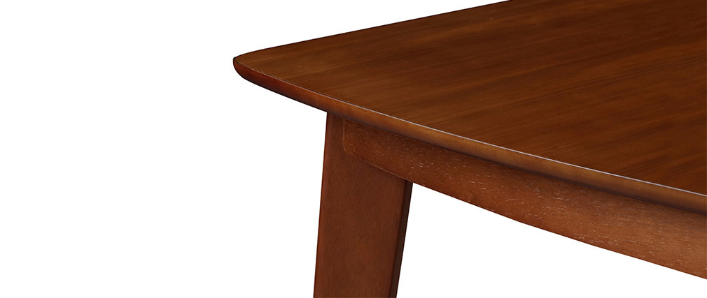 LEENA Scandinavian extendable dining table in walnut L150-200
