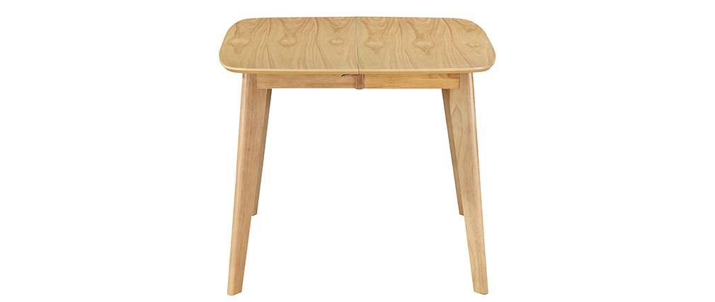 LEENA Scandinavian extendable square dining table in light wood L90-130