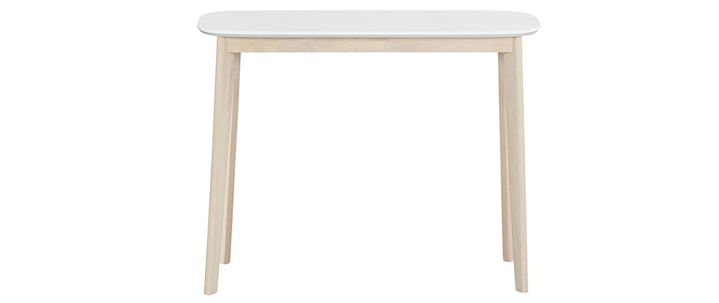 LEENA Scandinavian white and light wooden console table