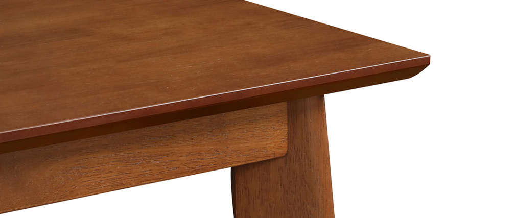 LEENA square standing table in dark wood