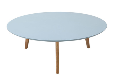 Light Grey Modern Round Coffee Table 100cm EKKA