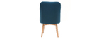 LIV Scandinavian armchair teal fabric light wooden leg