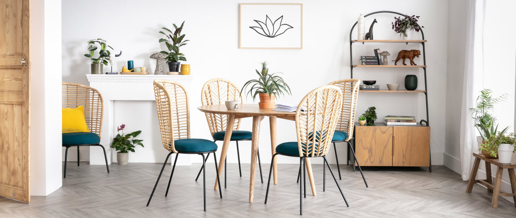 LIVIA Modern Round Dining Table - Ash D120