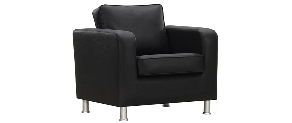 LLOYD designer armchair in black PU