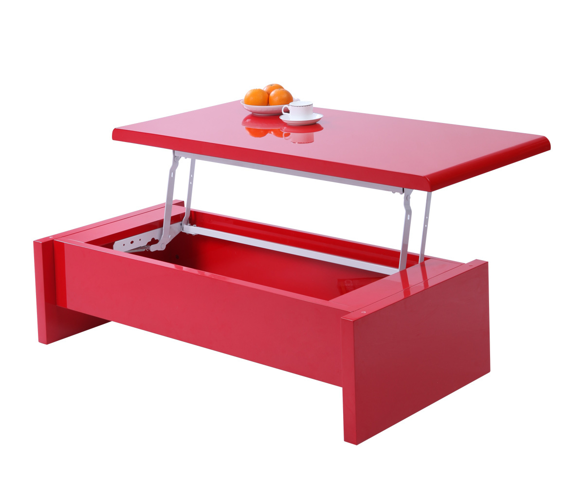 lola modern and adjustable red coffee table miliboo. Black Bedroom Furniture Sets. Home Design Ideas