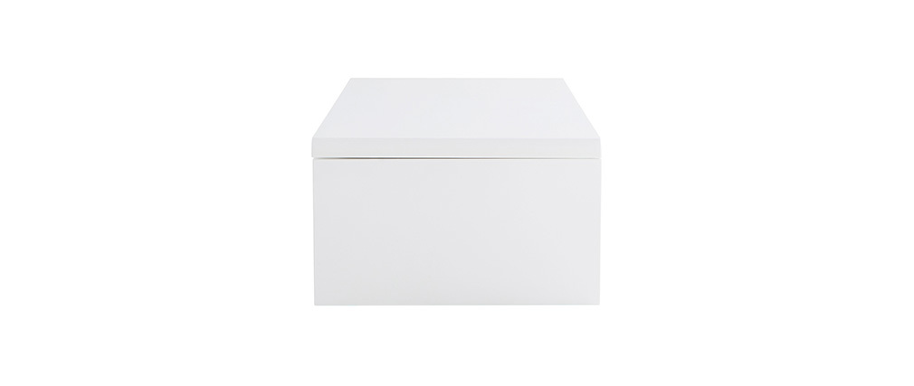 LOLA White Modern Lift Top Coffee Table with Storage