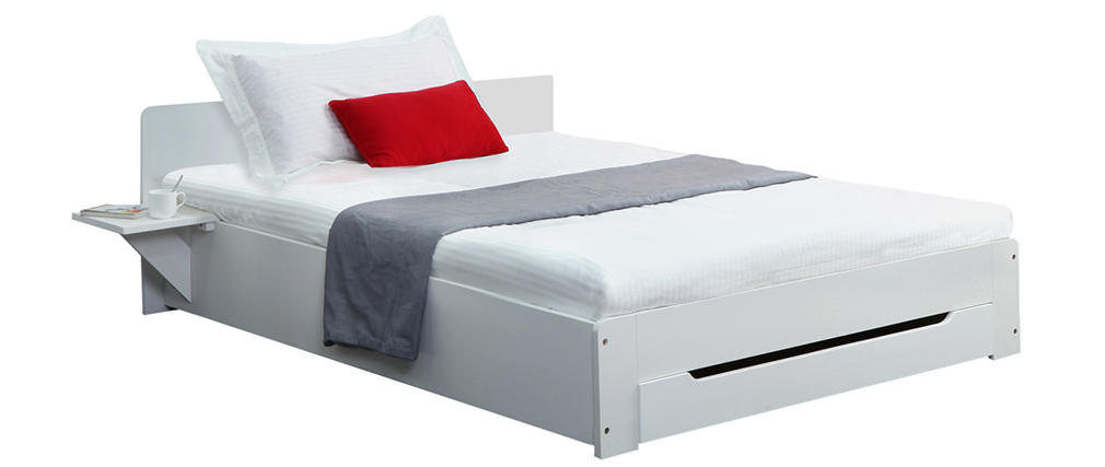 LORIS White Modern Single Bed 90 X 190cm