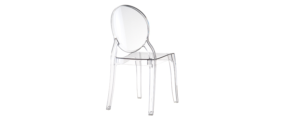 LOUISON Transparent Modern Chair (set of 4)