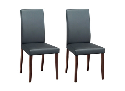LYDY set of 2 wenge-coloured designer wooden chairs