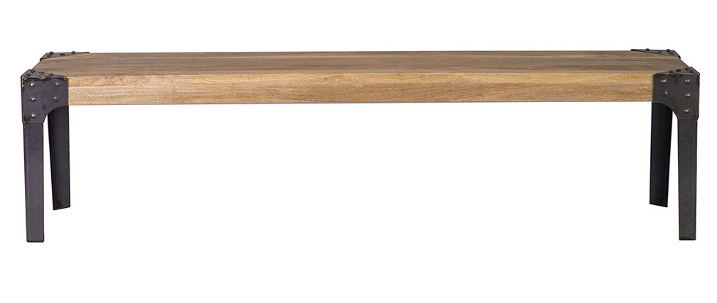 MADISON 180cm industrial wood and metal bench