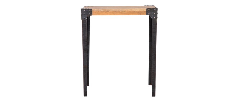 MADISON industrial designer wooden and metal rectangular bar table