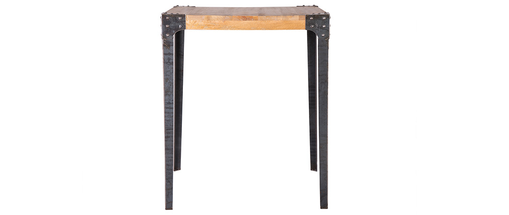 MADISON industrial designer wooden and metal square bar table