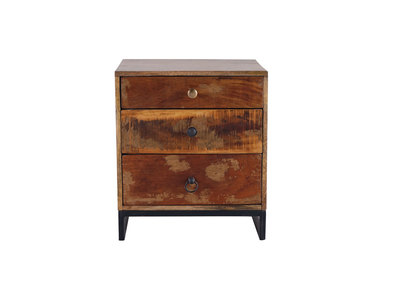 MADRAS Recycled Wood Bedside Table