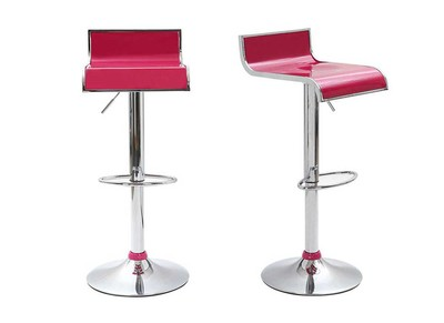 Magenta Modern Bar/Kitchen Stool WAVES (set of 2)