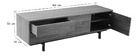 MANNY designer vintage walnut closed TV stand