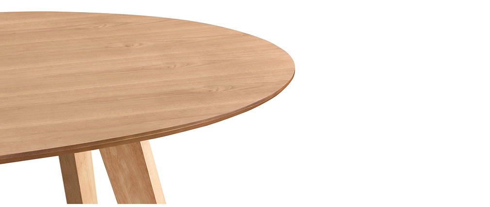 MARIK Scandinavian designer oak oval dining table L160