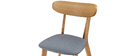 MARIK set of 2 vintage grey chairs with wooden legs