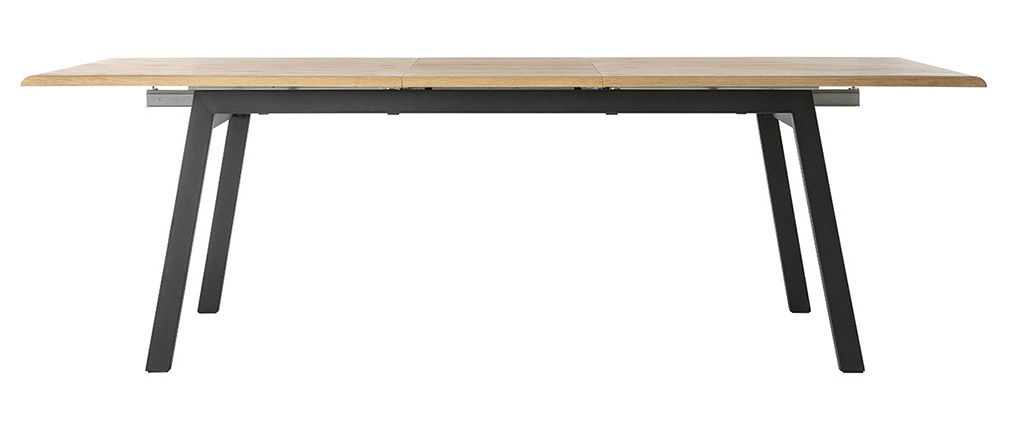 MARNY wooden and metal extending designer dining table L190-240