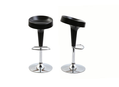Matt Black Modern Bar Stools HORTEN (set of 2)