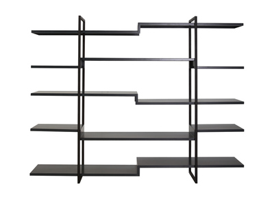 Matt Charcoal Grey Shelving Unit SURFACE