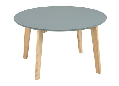 Matt Grey Modern Round Coffee Table SARA 80 cm
