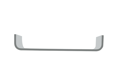 Matt Grey Modern Wall Shelf MAYA
