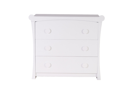 Matt White MDF Modern Kids Chest of Drawers CHARLOTTE