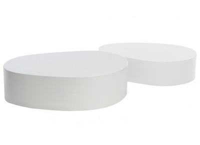 Matt White Modern Coffee Table CAMILLE (set of 2)