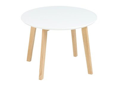 Matt White Modern Round Coffee Table SARA 50cm